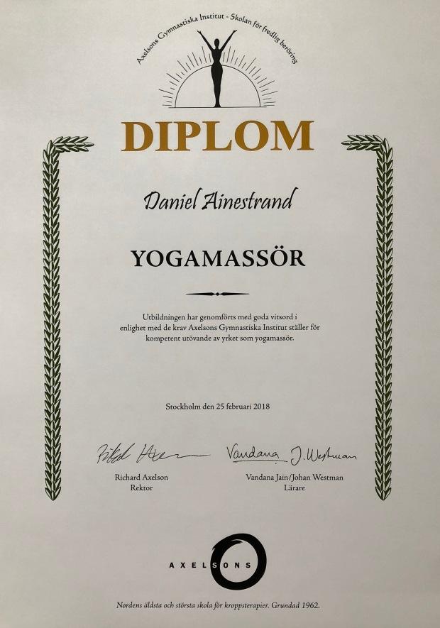 yogamassör diplom